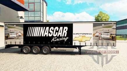Скин NASCAR на шторный полуприцеп для Euro Truck Simulator 2