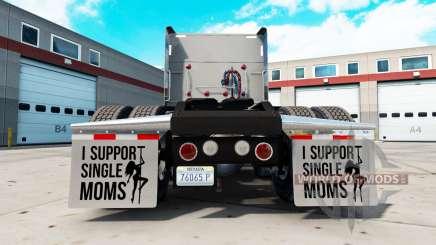 Брызговики I Support Single Moms v2.1 для American Truck Simulator
