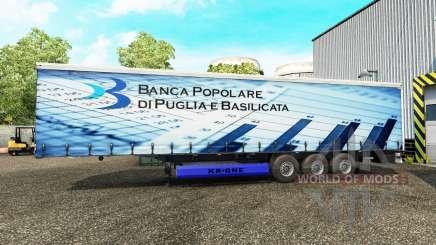 Скины на шторный полуприцеп для Euro Truck Simulator 2