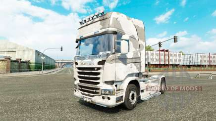 Скин Army на тягач Scania для Euro Truck Simulator 2
