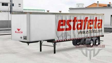 Скин Estafeta на шторный полуприцеп для American Truck Simulator