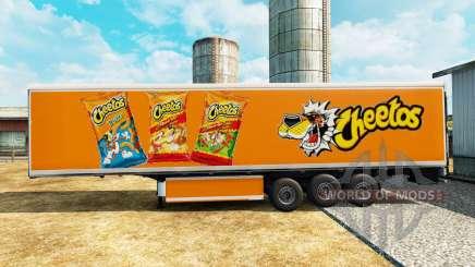Скин Cheetos на рефрижераторный полуприцеп для Euro Truck Simulator 2