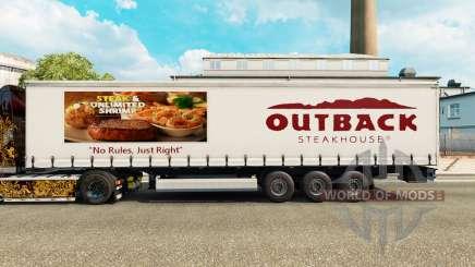 Скин Outback Steakhouse на шторный полуприцеп для Euro Truck Simulator 2