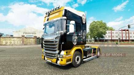 Скин Juventus на тягач Scania для Euro Truck Simulator 2