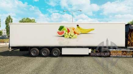 Скин Fruit на рефрижераторный полуприцеп для Euro Truck Simulator 2