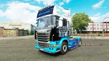 Скин Зенит на тягач Scania для Euro Truck Simulator 2