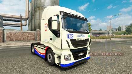 Скин FINA на тягач Iveco Hi-Way для Euro Truck Simulator 2