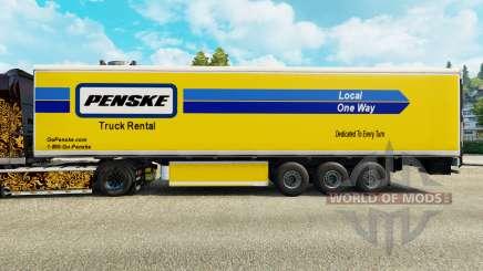 Скин Penske на рефрижераторный полуприцеп для Euro Truck Simulator 2