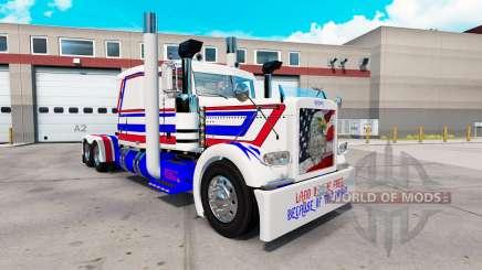 Скин America на тягач Peterbilt 389 для American Truck Simulator
