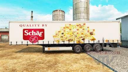 Скин Schar на шторный полуприцеп для Euro Truck Simulator 2