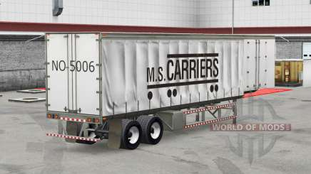 Скин M.S. Carriers на шторный полуприцеп для American Truck Simulator