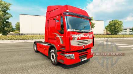 Скин Amelung на тягач Renault Premium для Euro Truck Simulator 2