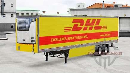 Скин DHL на рефрижераторный полуприцеп для American Truck Simulator