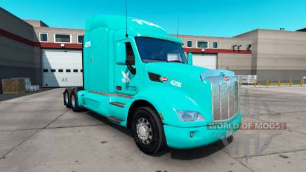 Скин TUM на тягач Peterbilt 579 для American Truck Simulator