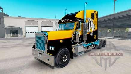 Скин Caterpillar на Freightliner Classic XL для American Truck Simulator