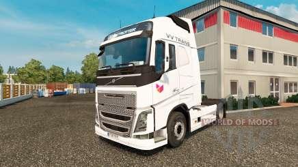 Скин VV Trans на тягач Volvo для Euro Truck Simulator 2