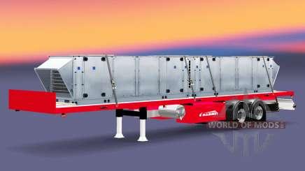Полуприцеп-платформа Mammut с различными грузами для Euro Truck Simulator 2