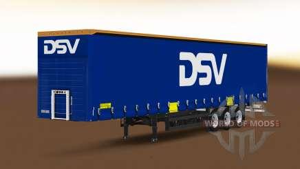 Шторный полуприцеп Schmitz Cargobull DSV для Euro Truck Simulator 2