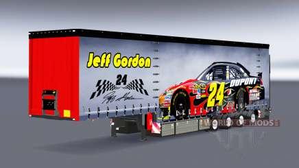 Шторный полуприцеп Krone NASCAR для Euro Truck Simulator 2