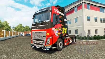 Скин NASCAR на тягач Volvo для Euro Truck Simulator 2