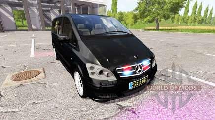 Mercedes-Benz Viano diplomatic corps v1.1 для Farming Simulator 2017