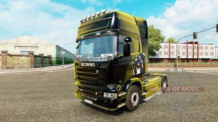 Скин Boston Bruins на тягач Scania для Euro Truck Simulator 2