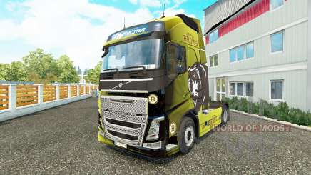 Скин Boston Bruins на тягач Volvo для Euro Truck Simulator 2