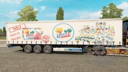 Скин MinusL на шторный полуприцеп для Euro Truck Simulator 2