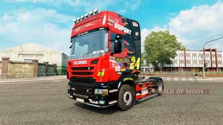Скин NASCAR на тягач Scania для Euro Truck Simulator 2