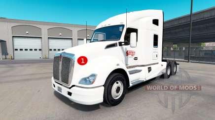 Скин 4OnTheGo на тягач Kenworth T680 для American Truck Simulator