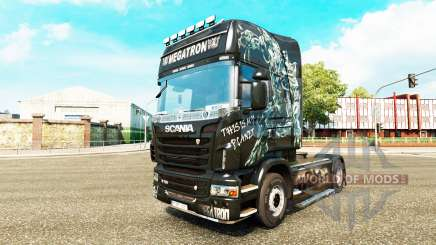 Скин Megatron на тягач Scania для Euro Truck Simulator 2