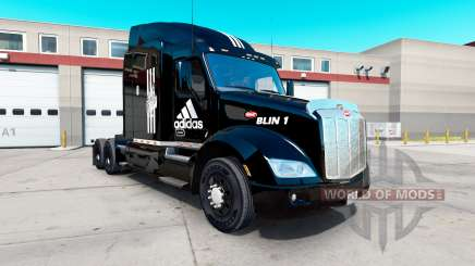 Скин Adidas на тягач Peterbilt 579 для American Truck Simulator