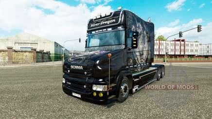 Скин Silver Dragon на тягач Scania T для Euro Truck Simulator 2