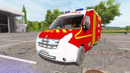 Renault Master Ambulance v2.0 для Farming Simulator 2017
