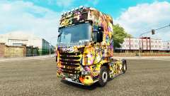 Скин Graffiti на тягач Scania