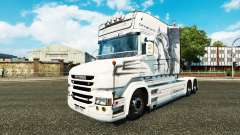 Скин White Dragon на тягач Scania T
