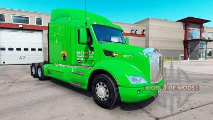 Скин Boyd Transportation на тягач Peterbilt 579 для American Truck Simulator