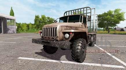 Урал-4320 лесовоз v2.0 для Farming Simulator 2017