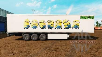 Скин Minions на полуприцеп для Euro Truck Simulator 2