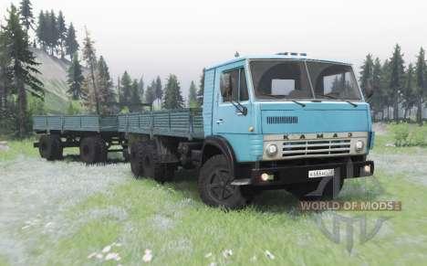 КамАЗ 53212 голубой для Spin Tires