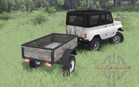 УАЗ 469 белый для Spin Tires
