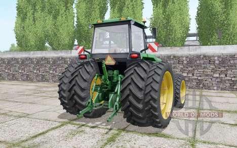 John Deere 4755 double wheels для Farming Simulator 2017
