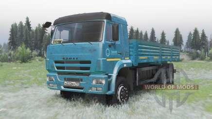 КамАЗ 65117 тёмно-синий для Spin Tires