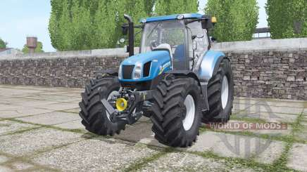 New Holland T6.070 interactive control для Farming Simulator 2017