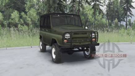 УАЗ 469 хаки для Spin Tires