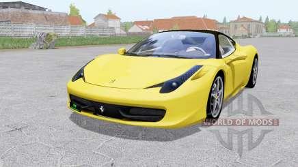 Ferrari 458 Italia 2009 для Farming Simulator 2017