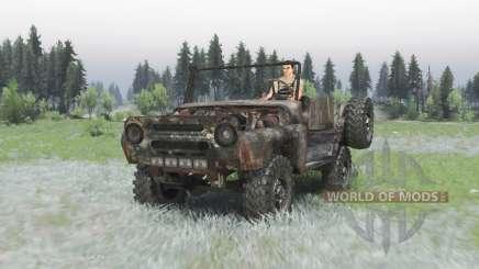УАЗ 469 ржавый v1.3 для Spin Tires