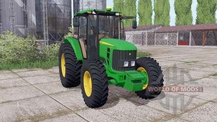 John Deere 6110J dual rear для Farming Simulator 2017