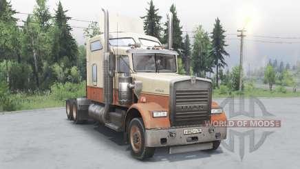 Kenworth W900 timber truck для Spin Tires