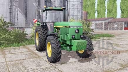 John Deere 4850 twin wheels для Farming Simulator 2017